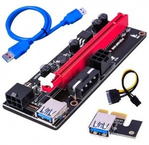Riser 009S SATA PCI-E 1x-16x USB3.0 MODEL 2021